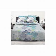 achat parure de lit 2 personnes coton 240x260 desilia blue