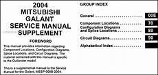 2004 mitsubishi galant wiring diagram manual original
