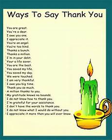 ways to say thank you to on your ways to say thank you learn site