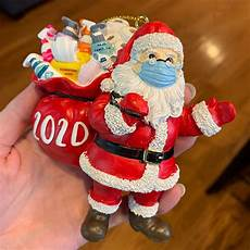 say quot merry covid christmas quot with this 2020 santa ornament boing boing