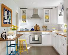 make a small kitchen look larger better homes gardens