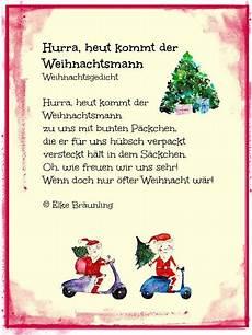 weihnachtsgedicht hurra heut kommt der weihnachtsmann