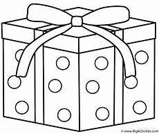 gift with dots coloring page