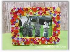 diy button frame s day gift craft idea