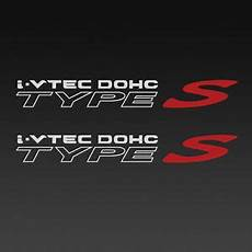 acura i vtec dohc rsx type s quarter panel decal 1 pair