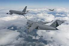 kc 46 completes milestone by refueling jet cargo