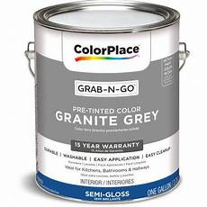 paint color granite gray colorplace grab n go interior paint gloss finish granite grey 1 gallon walmart com