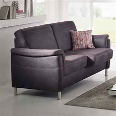 2 sitzer couch sofa 2 sitzer in stoff braun