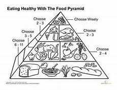 food pyramid coloring page pinterest worksheets healthy food and food pyramid kids