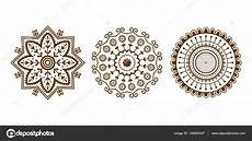 henna mehndi braun blume vorlage doodle ornamentale