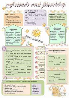 friends and friendship worksheet free esl printable worksheets made by teachers
