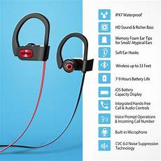 Bluetooth Bluetooth Earphone Noise Cancelling Ipx7 by Mpow Ipx7 Waterproof Bluetooth 4 1 Headphones Noise