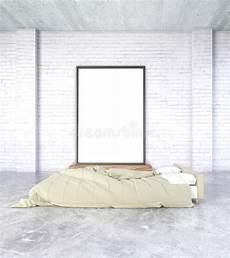 da letto semplice cornice in bianco sulla parete nella da letto