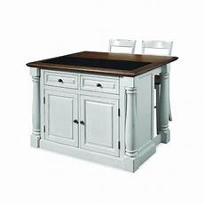 Kitchen Islands With Seating For 4 For Sale by Home Styles Monarch White Kitchen Island With Seating 5021