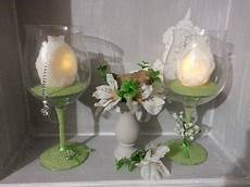 centrotavola candela centrotavola pasqua bicchiere con candela in cera a led