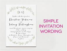 Wedding Invitation Message Sle
