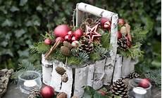 weihnachtsdeko mit birkenrinde diy upcycling