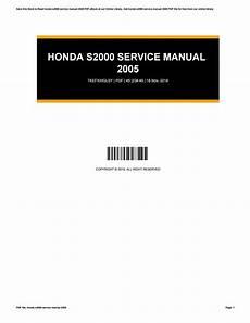 motor repair manual 2005 honda s2000 user handbook honda s2000 service manual 2005 by esperanzastrouse2109 issuu