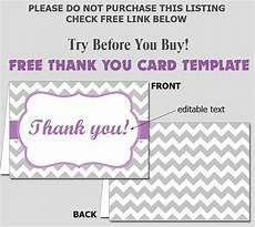 thank you card editable template free folded thank you card template diy editable