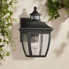 timberland outdoor wall light fixture black 12 quot clear seedy glass motion sensor for