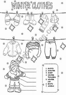 winter clothes worksheets 19966 winter clothes esl worksheet by daka3