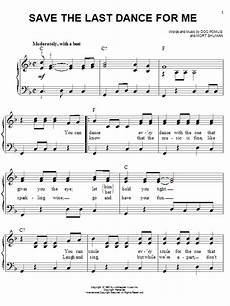 save the last dance for me sheet music by michael buble easy piano 74516