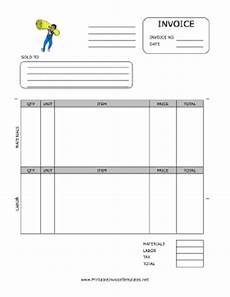 carpet installation invoice template