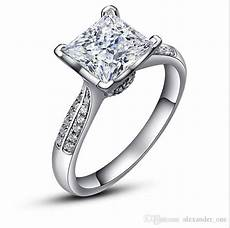 pure silver wedding rings 2019 luxury pure silver wedding rings chibrand jewelry zirconia diamond 925 sterling silver
