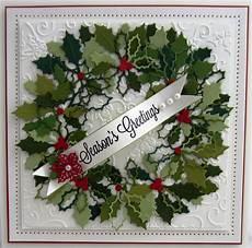 sue wilson holly wreath card sue wilson christmas cards to make beautiful christmas cards