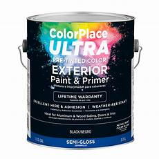 colorplace ultra gloss exterior black paint and primer 1 gal walmart com