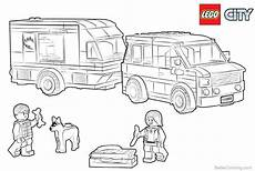 lego city coloring pages caravan free printable