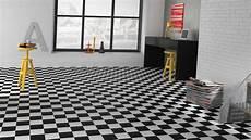 sol pvc damier noir et blanc sol vinyle imitation carrelage damier noir et blanc