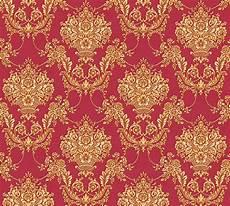 Vlies Tapete Barock Ornament Rot Gold Glanz Metallic 34492