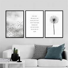 abstract landscape quotes canvas painting black white