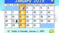 january 2019 calendar starfall youtube