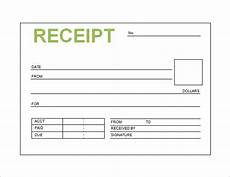 free receipt printable template for excel pdf formats