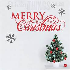 merry christmas quote wall art decal stickythings co za
