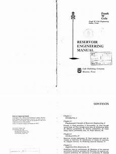 applied petroleum reservoir engineering solution manual 1989 audi 90 engine control reservoir engineering manual frank w cole pdf
