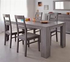 esstisch mit 4 stühlen esstisch mit 4 st 252 hlen essgruppe eiche grau 5 teilig