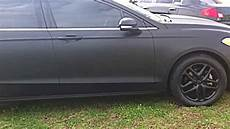 plasti dip vehicle matte black 2013 fusion