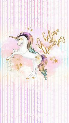 Home Screen Gold Unicorn Wallpaper