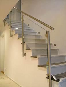Treppengeländer Innen Glas - edelstahl gel 228 nder mit einer glasf 252 llung aus vsg