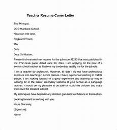 teacher cover letter exle 10 download free documents