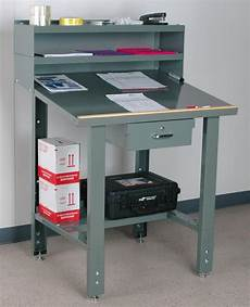Small Shop Desk by Stackbin Workbenches Standard Shop Desk