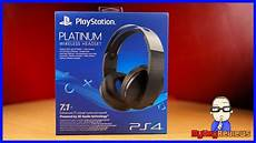 playstation platinum wireless headset ps4 unboxing