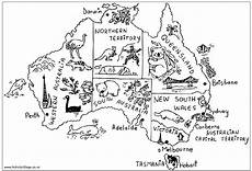australia animals coloring pages 16900 australian map with animals and highlights australia map australia for geography for