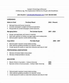 free chronological resume templates what chronological resume template is and how to write