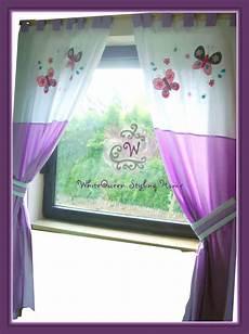 Gardinen Für Kinder - baby kinderzimmer vorhang gardine schmetterlinge lila