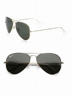 ban original polarized aviator sunglasses in green lyst