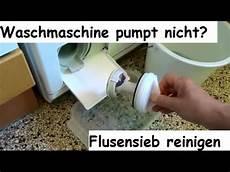 waschmaschine pumpt nicht flusensieb laugenfilter